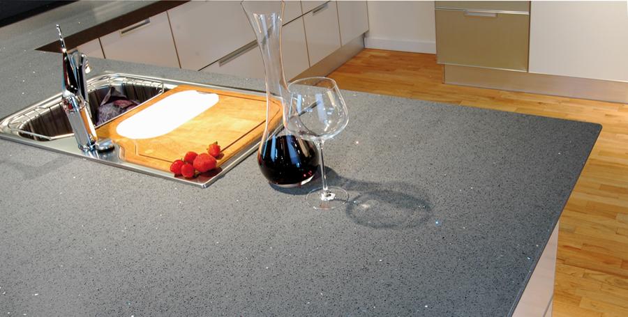 Plans de travail artemis design cuisines bains for Plan de travail quartz gris