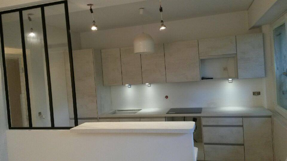 cuisine ouverte avec verri re artemis design cuisines bains. Black Bedroom Furniture Sets. Home Design Ideas